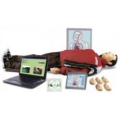 """""""Максим В/Р"""" ( Тренажёр сердечно-лёгочной и мозговой реанимации взрослого и ребёнка, пружинно-механический с индикацией правильности выполнения действий, с учебным и 4-мя тестовыми режимами, обучающей компьютерной интерактивной анимационной"""