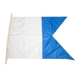 Флаг Международного свода сигналов цифровой A (Alfa)