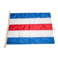 Флаг Международного свода сигналов цифровой C (Charlie)