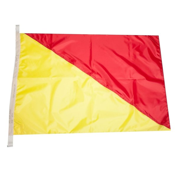 Флаг Международного свода сигналов цифровой O (Oscar)
