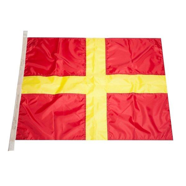 Флаг Международного свода сигналов цифровой R (Romeo)