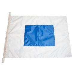 Флаг Международного свода сигналов цифровой S (Sierra)