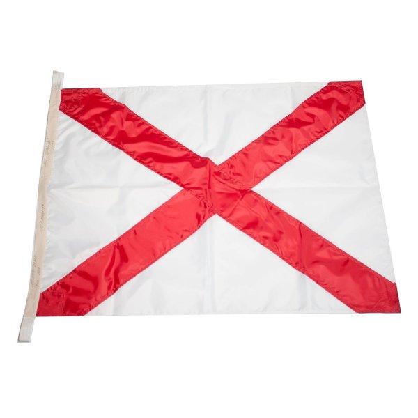 Флаг Международного свода сигналов цифровой V (Victor)