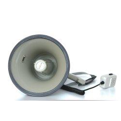 Мегафон ручной наплечный 25Вт(50Вт) , выносной микрофон, сирена, разъем 12В