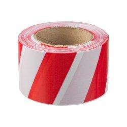 Лента сигнальная красно-белая 75 мм х 200 м