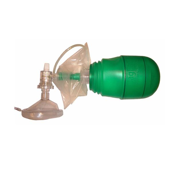 Аппарат ручной дыхательный (тип Амбу) взрослый в комплекте с наркозной маской, кислородным шлангом и мешком резервным